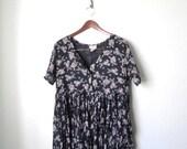 90s babydoll cotton floral dress