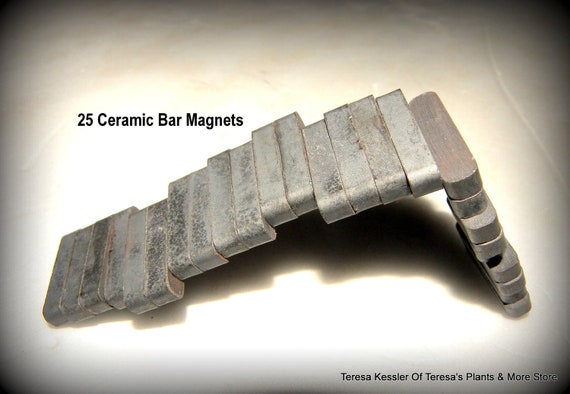 "Ceramic Bar Magnets package of 25-7/8"" Bar Magnet 3/16"" thick"
