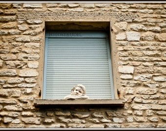Southern France Photograph. At the Window - Luberon French Country Provence / Shabby Chic. 8x12