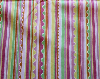 DESTASH - Pink Colorful Stripes 2 yards Jazzy Concord Fabric