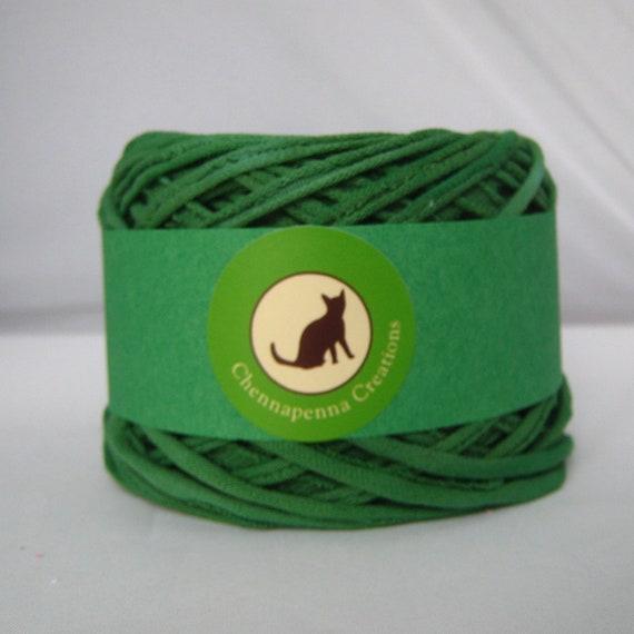 T shirt yarn kelly green 60 yards hand dyed t shirt for T shirt printing st charles mo