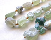 Ancient Roman Glass Necklace - Green Glass, Aqua Glass, Extra Long Statement Necklace, Choose Your Style
