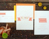 Celebration Wedding Invitations - Colorful Rainbow Sprinkles Fun Invite