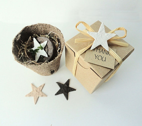 Cowboy Wedding Gifts: Plantable Party Favor Stars Western Wedding Favor By