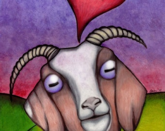 Alice the Goat - 8x10 SIgned Print