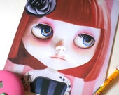 Mouse Pad / Mat tattoo blythe doll Ruby the Jewel