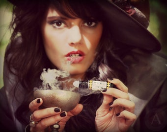 ON SALE Witches Brew. Artisan perfume oil. Cauldrons. Dragons Blood.Secrets.