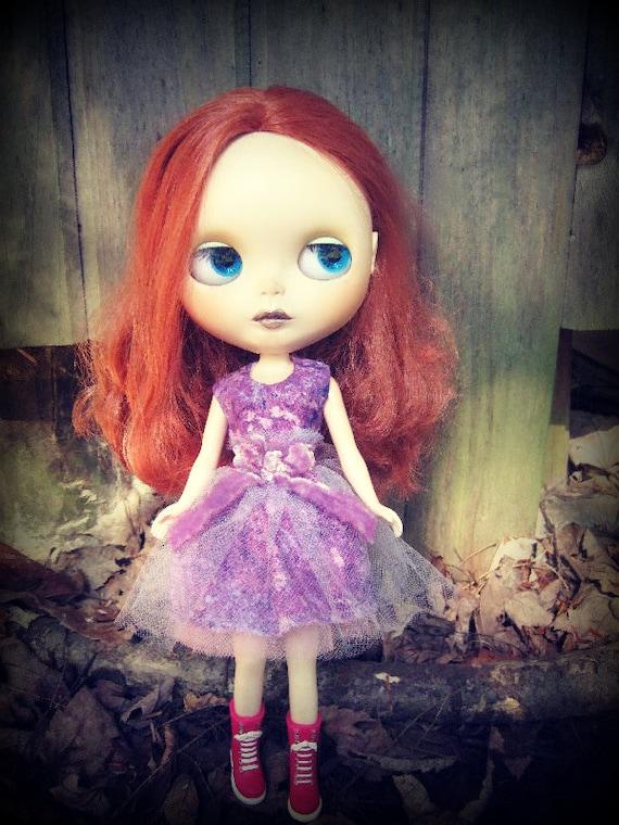 Blythe Purple Cotton Dress
