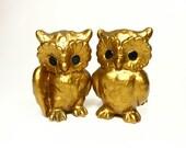 Vintage Owls Ceramic Woodland Birds Pair Norcrest Japan Retro Home Decor PeachyChicBoutique on Etsy