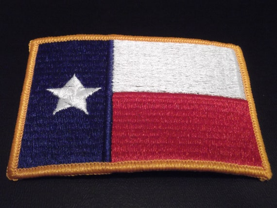 Texas Flag Patch Unused 1980s 1990s Red White Blue Lone Star State