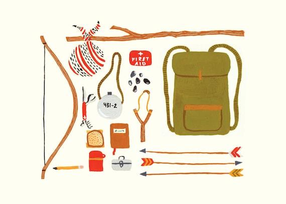 Backpacking 5x7 Print