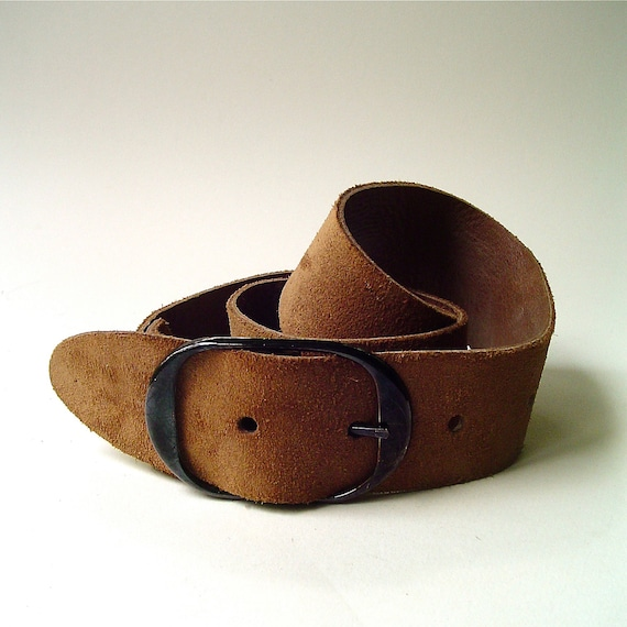 boho vintage wide brown suede belt by skinnyandbernie on etsy