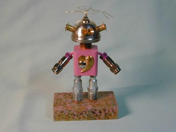 VODKA  Found Object Robot Sculpture Assemblage