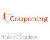 I Love Couponing Vinyl Graphic, Vehicle Sticker