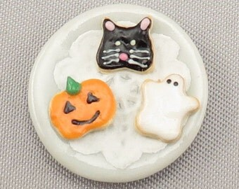 Dollhouse Miniature Halloween Cookie Plate