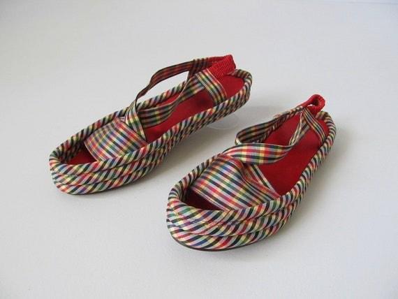 1950s Shoes / 50s Sandals / Cabana Sandals
