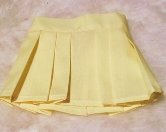 18inch Soft Yellow Doll Skirt