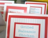 Food Labels to Match Birthday Banner - Tent Labels, Party Food, Party Decor, Shower Decorations