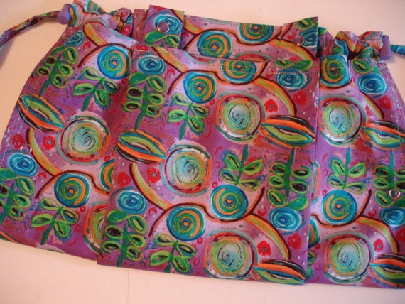 KNITTING BAG APRON - George Mendoza Lollipop Floral for Free Spirit Fabric