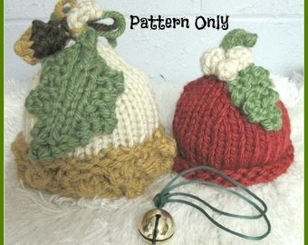 Nuts and Berries Hat in Bulky Yarn Knitting Pattern  Sized Newborn, Baby, Child and Adult