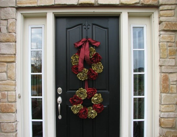 Christmas sale holiday wreaths front door wreath by for Front door xmas wreaths