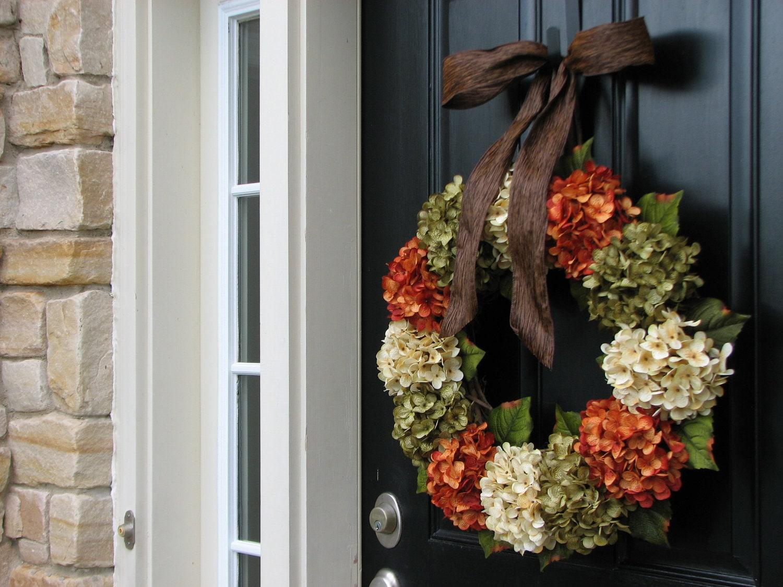 Fall Hydrangea Wreaths Front Door Wreaths Wreaths By