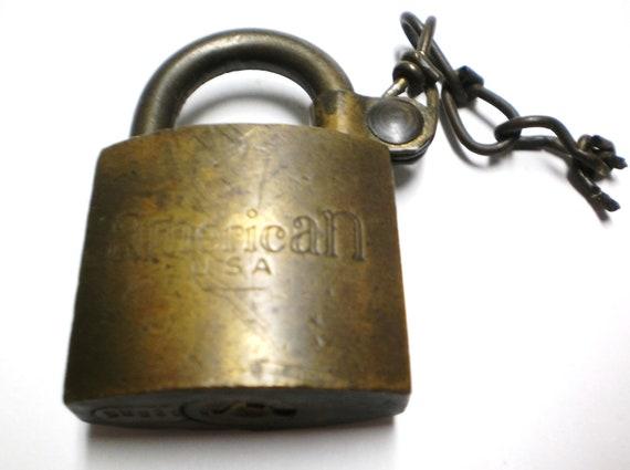 Items Similar To Brass Padlock American Military Us