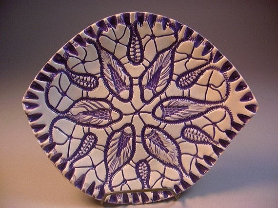 Small Ceramic Soap Dish, Pottery Bowl, Ring Tray, Spoonrest, Lavender, Purple, Amethyst