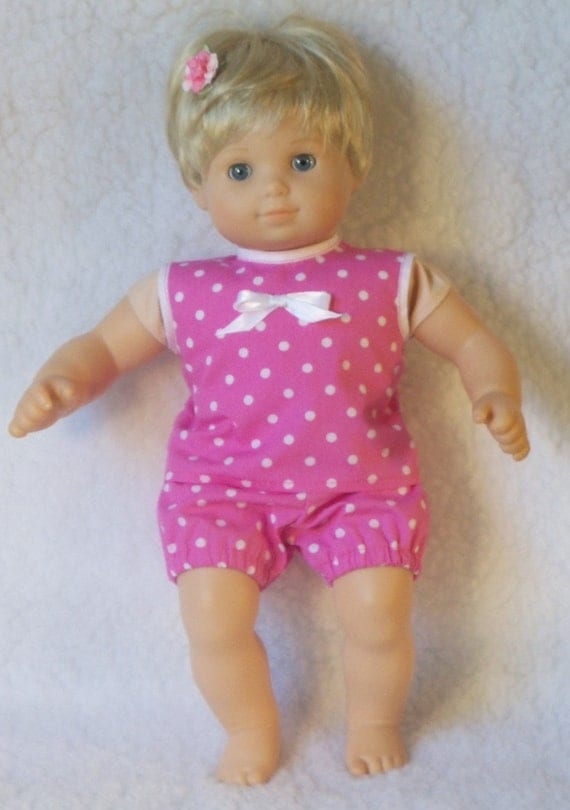 Bitty Baby Doll Pink Summer Top with Bloomer Underpants