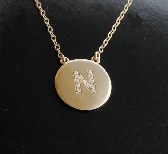 CHAIN LETTER NECKLACE - K Kane Jewelry - K Kane