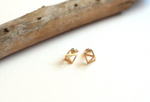 Open Pyramid Earring