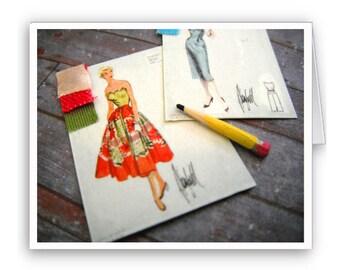 Fashion Sketch Notecards