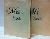 Personalized Passport Covers, Wedding, Honeymoon, Anniversary Gift, Mr and Mrs
