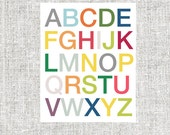 Kids Modern Alphabet Art Print