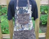 Camo Apron - adult size- men's - full apron - by Happy Campers of the South (APR151)
