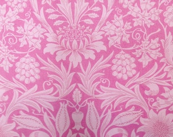 RARE - liberty tana lawn fabric -fat quarter - thebarton - pink