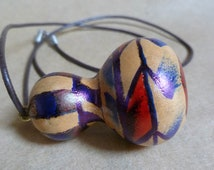 Hand painted miniature Gourd necklace