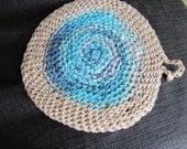 Organic Hemp and Organic Cotton Round Washcloth