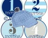 Baby Boy Stickers Baby Months Stickers Boy Milestone Month Age Baby stickers Great Newborn Photo Prop