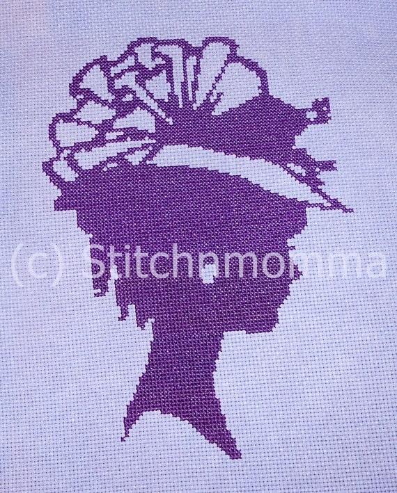 11013 The Sophisticated Lady - Original Design Cross Stitch PDF Pattern - DIGITAL DOWNLOAD