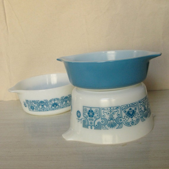 Blue Horizon PYREX Casserole Dishes - Set of 3