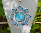 Blue Sun Lotus necklace