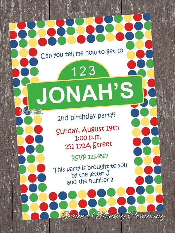 Street Dots Birthday Invitations - 1.00 each with envelope