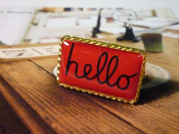 SALE - Hello - Rectangle Series Rings