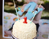 DIY Happy Birthday Cake Bunting Modern Construction Party