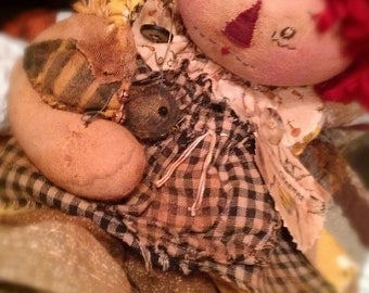 "Bea Charmer"", Original Raggedy Ann Primitive Doll Pattern, FREE SHIPPING"