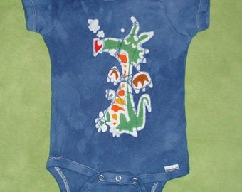 Dragon Baby Onesie Batik Baby Clothes Puff the Magic Dragon CUSTOM