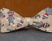 Sock Monkey  Bow Tie