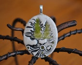 NATURES WALK clay necklace