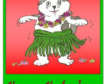 Happy hula days greeting cards